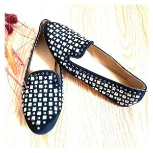 J. Crew Collection Darby Studded Loafers Black 6.5